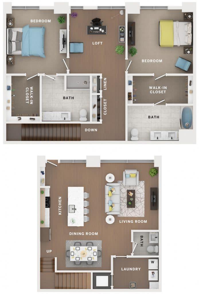 Industry Cincinnati Floor Plan 6