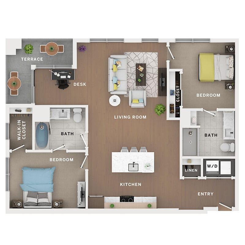Industry Cincinnati Floor Plan 28